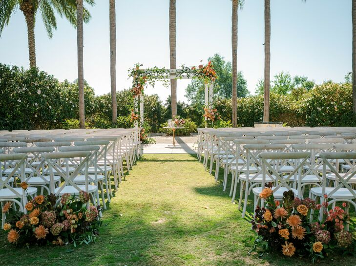 Outdoor Ceremony Setup in San Diego, California