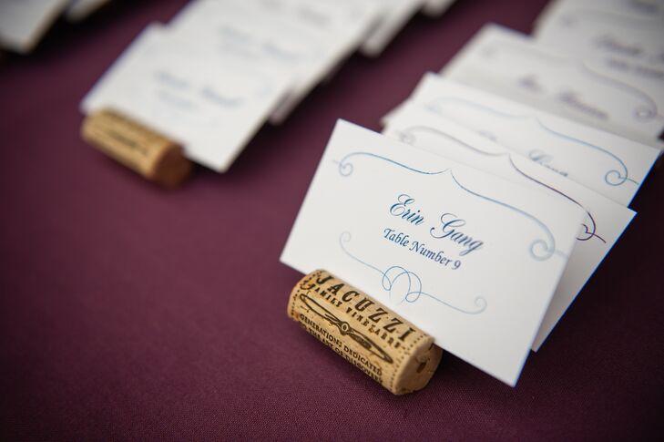 Wine Cork Escort Card Holder