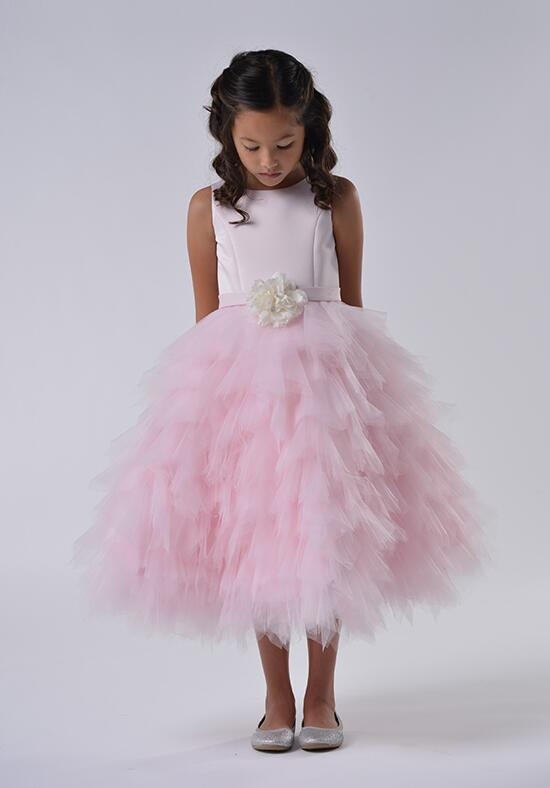 Us Angels Beautiful Color The Peony Dress-110_Pink Flower Girl Dress photo