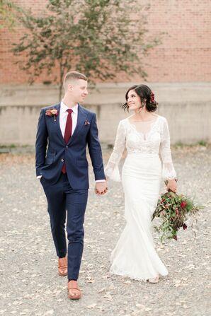Bride and Groom at Moody Colorado Wedding