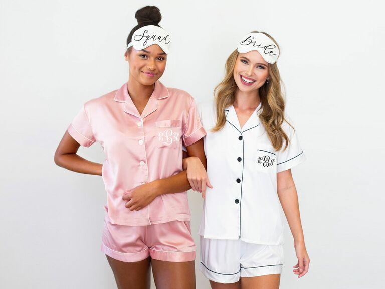 coordinating bridesmaid pajamas