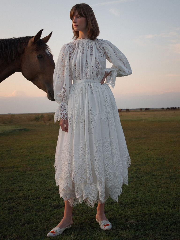 Vintage Tea-Length Wedding Dresses