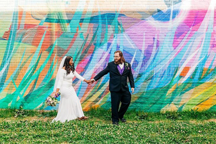 """Shelvasha (Shel) and David wanted their wedding at The Hotel Concord in Concord, North Carolina, to be """"elegant, natural, but also a little chic. Ther"""