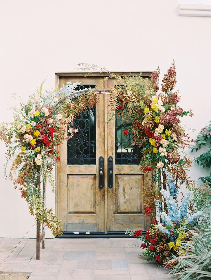 Circle Altar Arch for Ceremony in Coachella, California