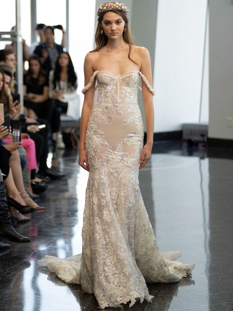 berta off the shoulder mermaid dress