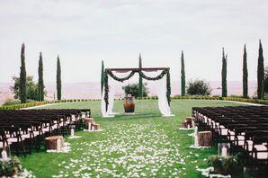 Simple, Elegant Outdoor Ranch Ceremony