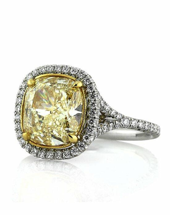 Mark Broumand 4.90ct Fancy Light Yellow Cushion Diamond Engagement Ring Engagement Ring photo
