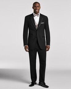 Men's Wearhouse Wilke Rodriguez Black Satin Edged Notch Lapel Black Tuxedo