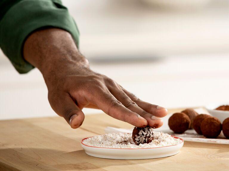 Man taking part in truffle-making class