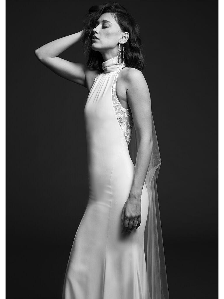 Rime Arodaky sleeveless dress with high collar