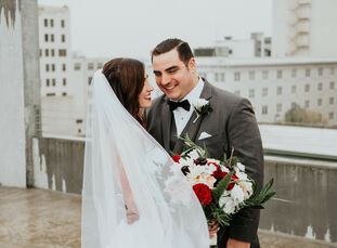 """Brigitte and Sebastian returned to wed in the place they met: Wichita, Kansas. """"The art museum appealed to me both because I'm an architect and becaus"""