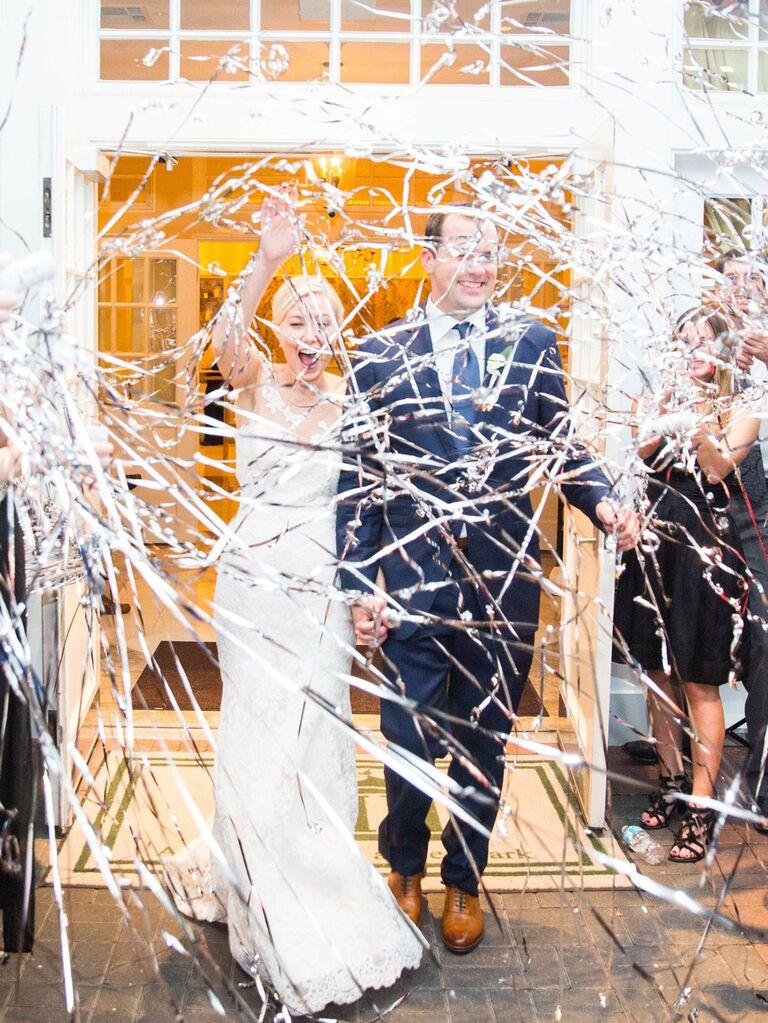 Streamer wedding exit idea
