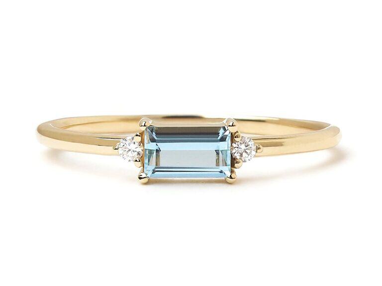 joy roze fine jewerly rectangular aquamarine gold engagement ring with diamonds