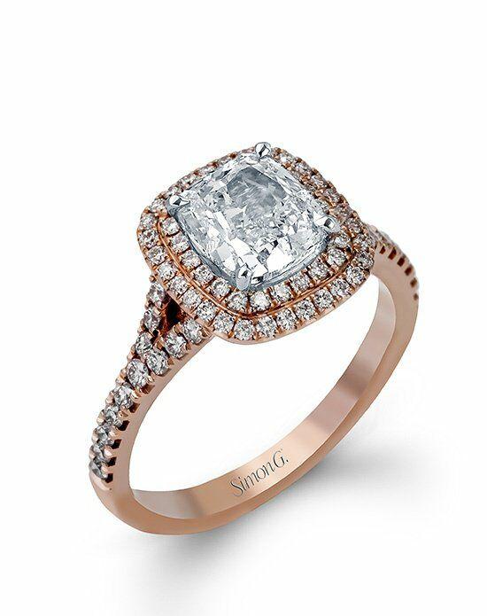 Wedding rings cushion cut diamond
