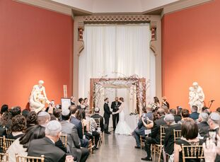 """Katharine and Ben knew they """"wanted to get married somewhere that wasn't just a wedding venue, but also had some cultural value,"""" Katharine says of la"""