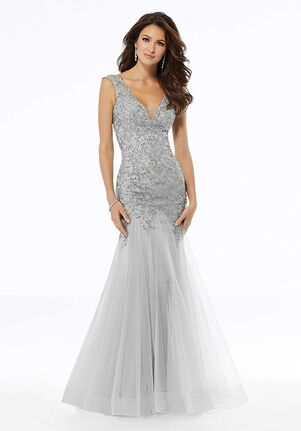 MGNY 72103 Silver,Black Mother Of The Bride Dress