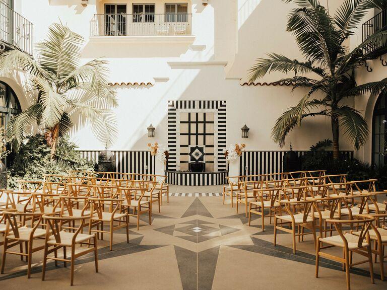 outdoor wedding venues hotel california in santa barbara