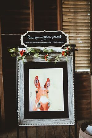 Donkey Print Guest Book
