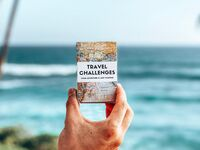 'Travel Challenges' book with map design cover