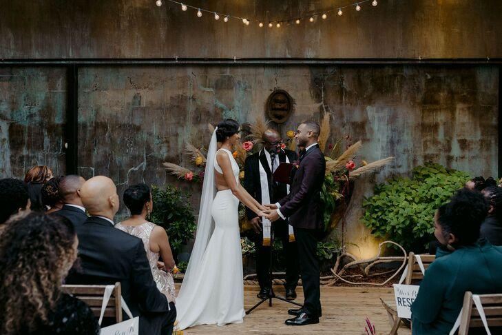 Urban Wedding Ceremony in Brooklyn, New York
