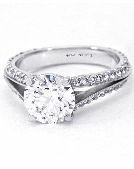 Diamond Ideals Four Prong Split-Shank Engagement Ring-CUSTB0116 Engagement Ring photo