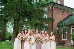Neutral Mix-and-Match Bridesmaid Dresses