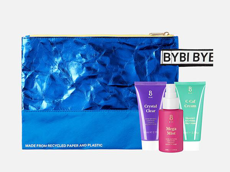 bridesmaid makeup bag recycled materials