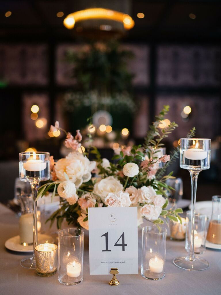 friends themed wedding candle tablescape