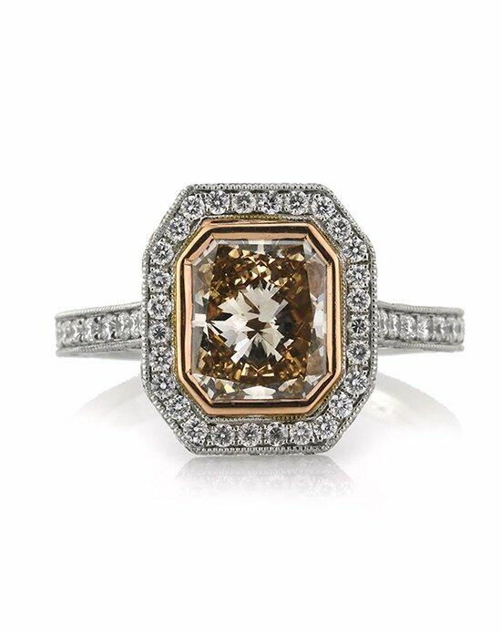Mark Broumand 3.83ct Fancy Brown Yellow Radiant Cut Diamond Engagement Ring Engagement Ring photo