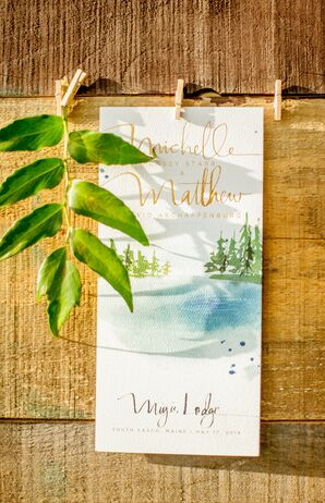 Hand-Painted Programs With Maine Scenery