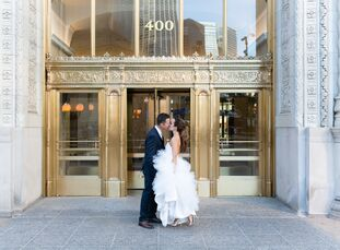 It was a family affair for Kristen LeSchander (40 and an interior designer) and Andrew Johnson (45 and works in commercial construction sales), who ex
