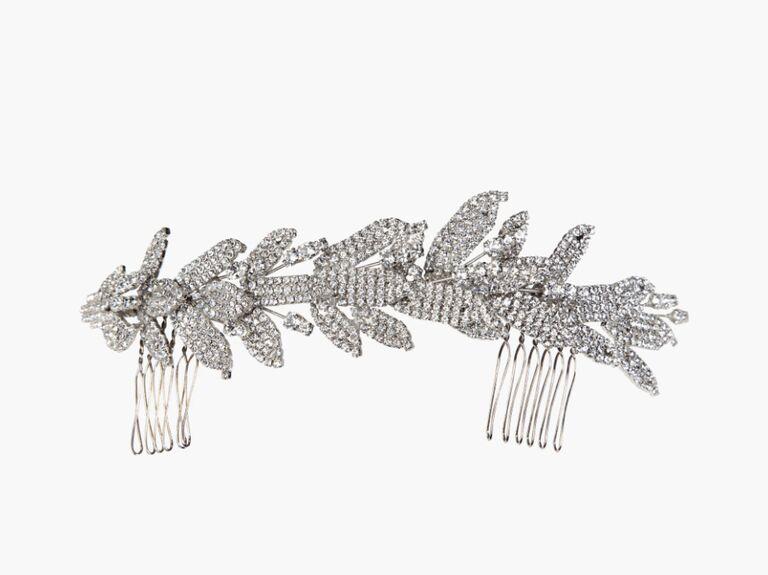 wedding hair pieces silver hair comb