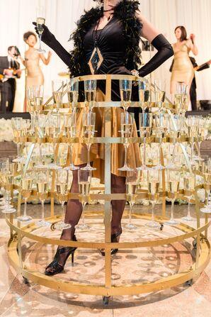 Art-Deco-Inspired Champagne Servers