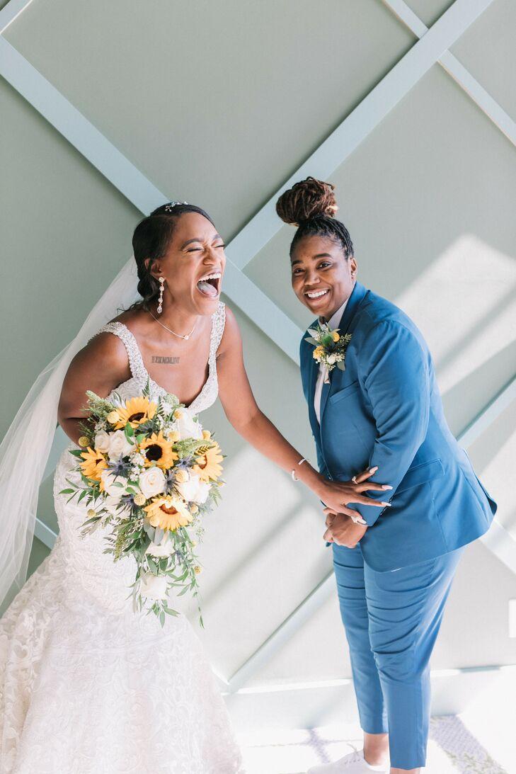 Couple Shares Laugh at The Portofino Hotel in Redondo Beach, California