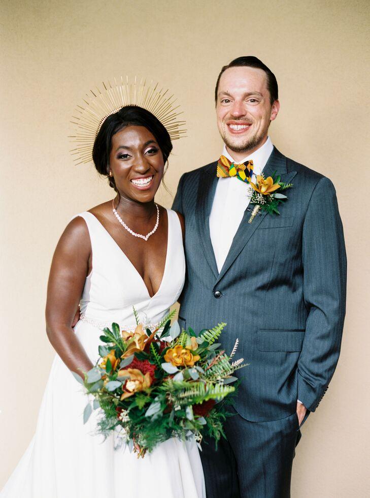 Bride and Groom Portraits at Ballantyne Country Club Wedding in Charlotte, North Carolina