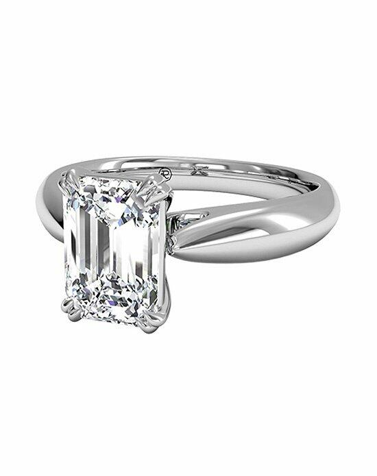 Ritani Emerald Cut Solitaire Diamond Tulip Cathedral Engagement Ring in Platinum Engagement Ring photo