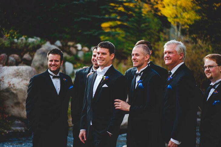 Classic, Formal Black and Royal Blue Groomsmen Attire