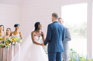 Vows at The Farmhouse in Montgomery, Texas