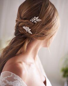 Dareth Colburn Ariana Opal & Crystal Hair Pin (TP-2847) Silver Pins, Combs + Clip