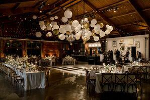 Balloon Installation Above Dance Floor at Cedar Lakes Estate in Port Jervis, New York