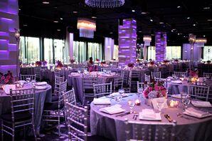 Purple Uplit Reception
