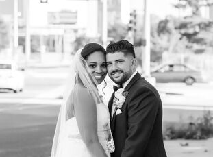 When Whitley Lukes (27 and a customer service associate) and Carlo DiCarlo (28 and an aircraft dispatcher) changed their wedding vision from gray and