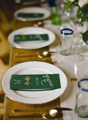 Rustic Green Place Cards