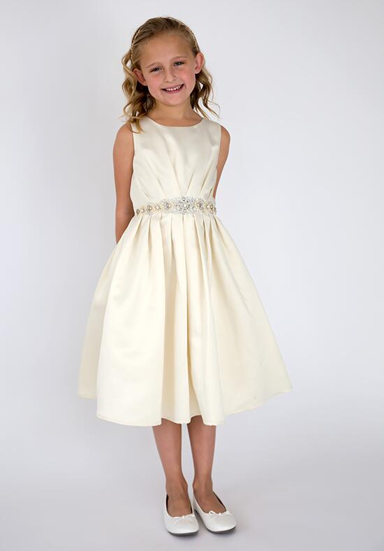 Us Angels Beautiful Color Samantha Ballerina Dress-683_sand Flower Girl Dress photo