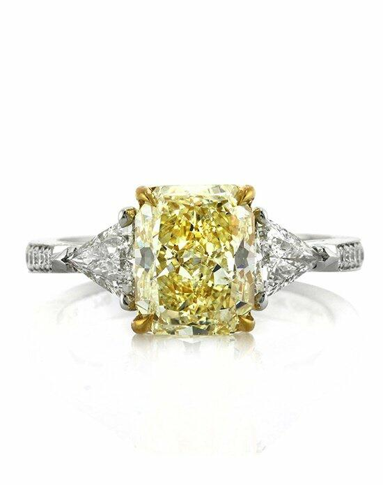 Mark Broumand 3.78ct Fancy Light Yellow Radiant Cut Diamond Engagement Ring Engagement Ring photo