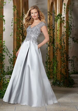 MGNY 71904 Champagne,Gold,Gray,Silver Mother Of The Bride Dress
