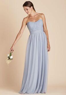 Birdy Grey Christina Convertible Dress in Dusty Blue Strapless Bridesmaid Dress