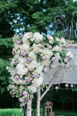 Jewish Chuppah Covered in Lavender Roses