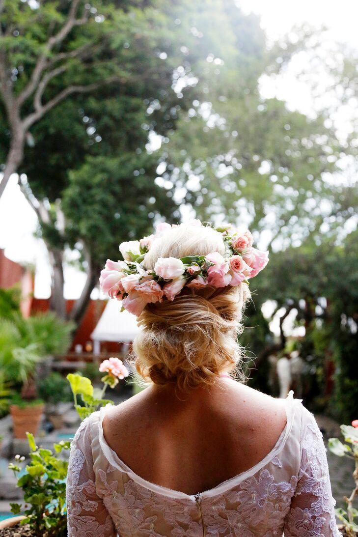 Blush Rose Flower Crown