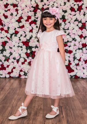 Kid's Dream C205 Ivory,Pink Flower Girl Dress